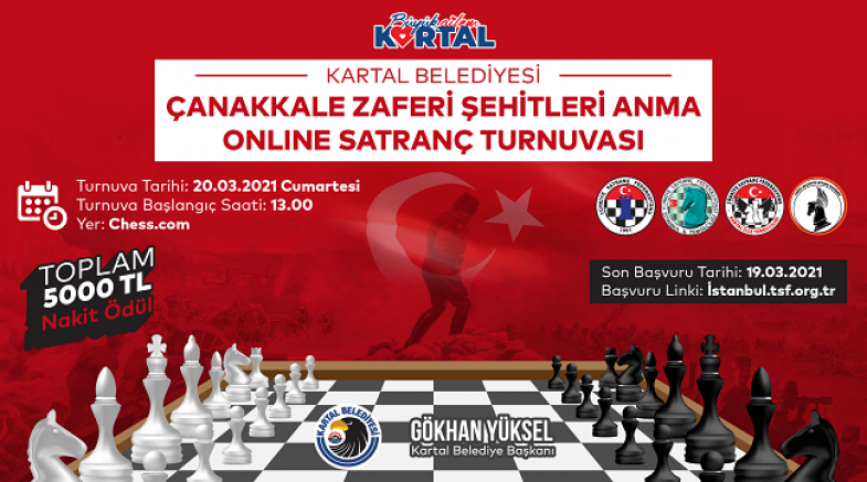 Çanakkale Zaferi ve Şehitleri Anma Online Satranç Turnuvası